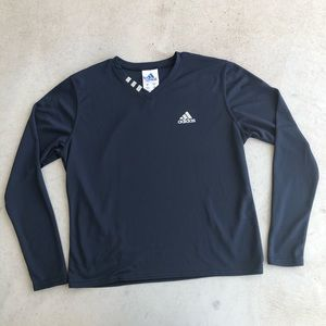•new• Adidas Navy Long Sleeve w/ Reflective Logo